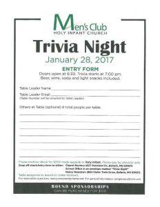 Men's Club Trivia Night @ Parish Center