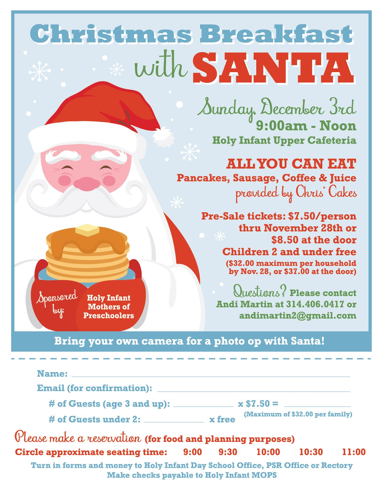 Breakfast with Santa @ Upper Cafeteria