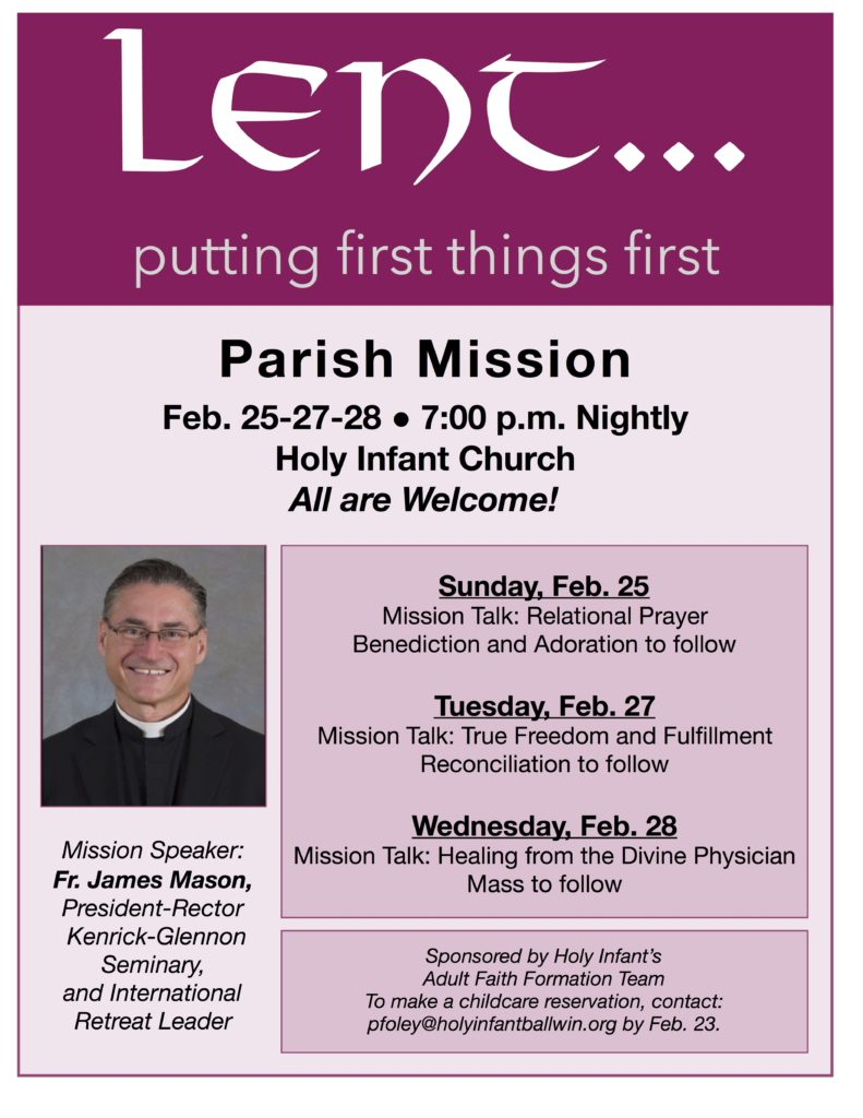 Parish Mission with Fr. James Mason @ Church
